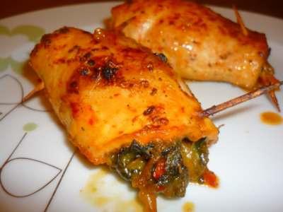 Ispanaklı Tavuk Göğsü Sarması