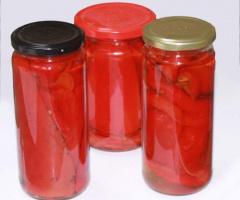 Közlenmiş Kırmızı Biber Konservesi