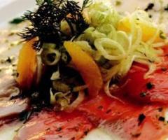 Somon ve Kılıç Balığı Carpaccio